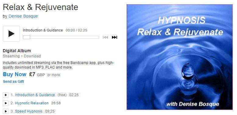 "Denise's ""Relax & Rejuvenate"" (free to stream)   Denise Bosque"